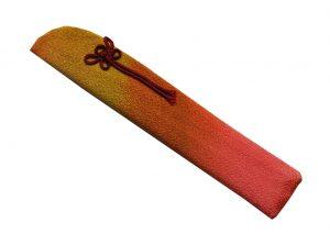 〈婦人用〉扇子袋 オレンジ色