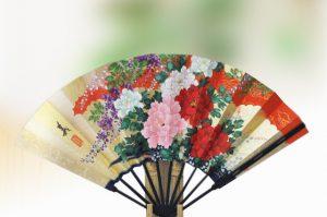 〈京扇子〉仕舞飾り扇子百花/桜 扇子立て付き箱入り
