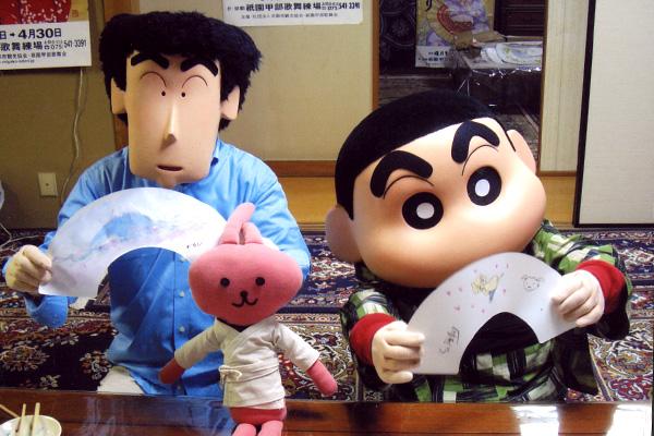 クレヨンしんちゃんが京扇子を作るゾ!