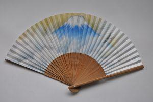 〈紳士用扇子〉和紙扇子 富士山柄