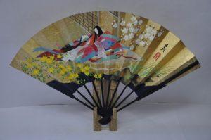 〈京扇子〉仕舞飾り扇子山吹姫/紅葉 扇子立て付き 箱入り